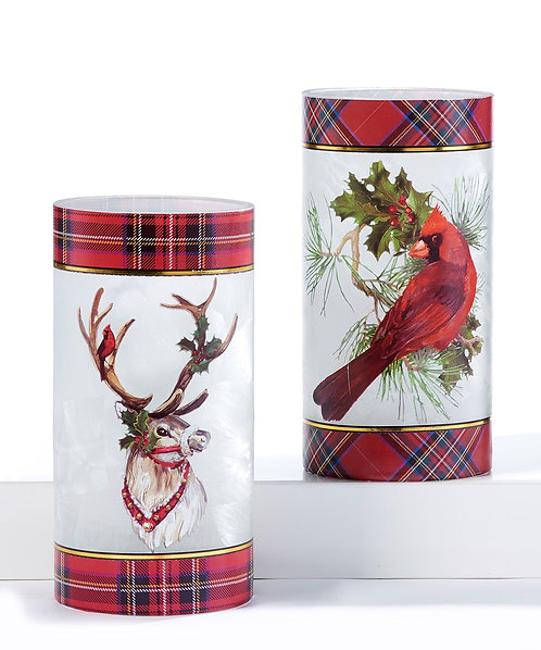 Christmas Hurricane Candle Holder