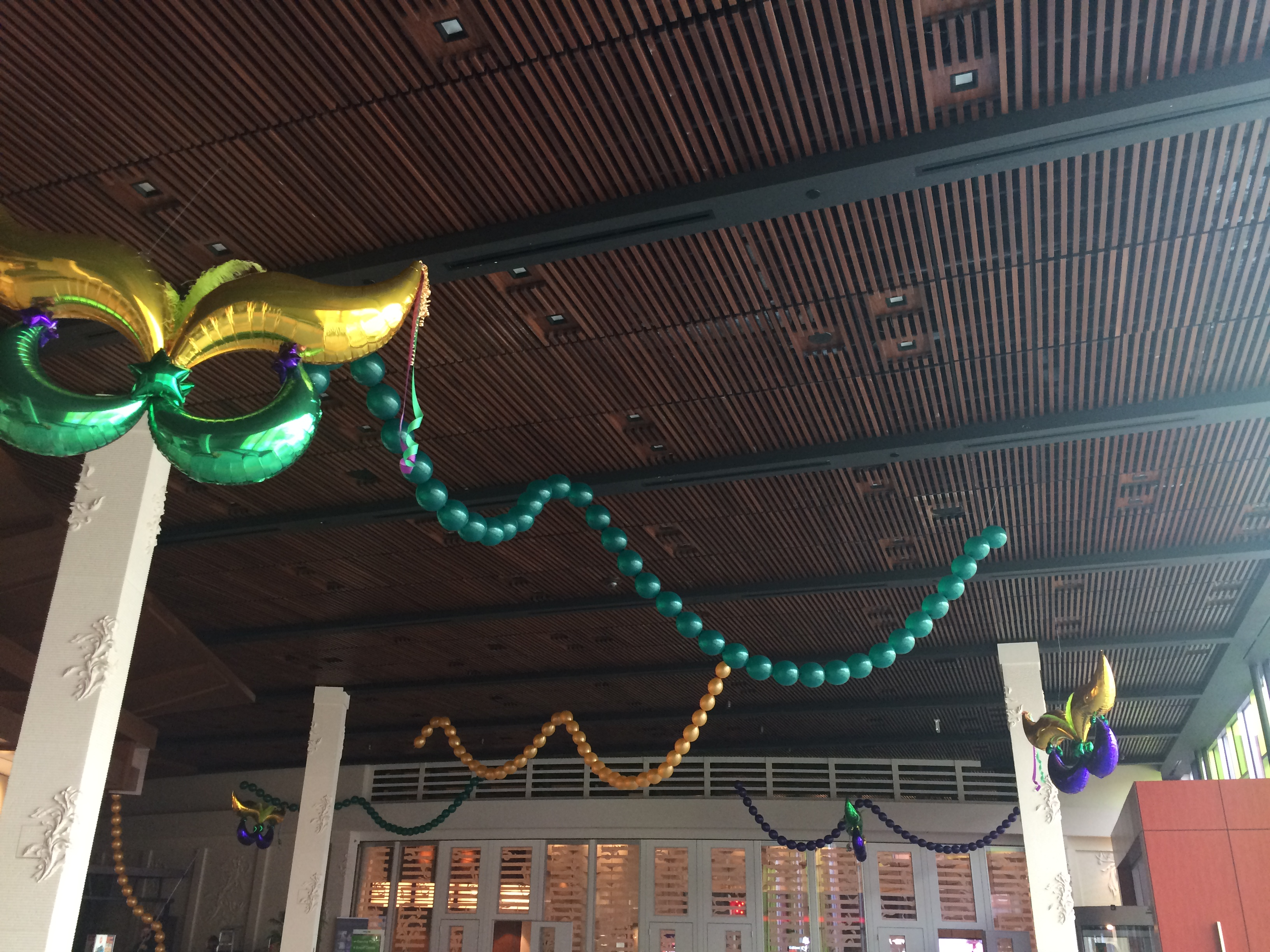 Mardi Gras balloon Masks and Beads