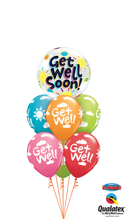 Bubble Balloon Bouquet - Get Well Soon