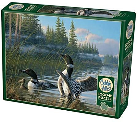 Common Loons 1000pc Cobble Hill Jigsaw Puzzle