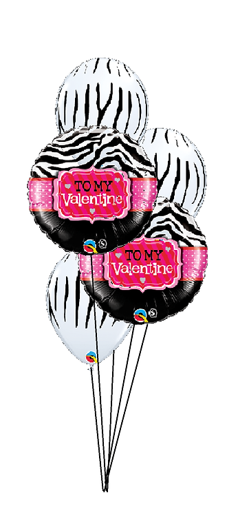 Classic Balloon Bouquet - To My Valentine