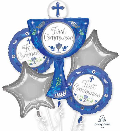 Super Fun Foil Bouquet - First Communion Blue