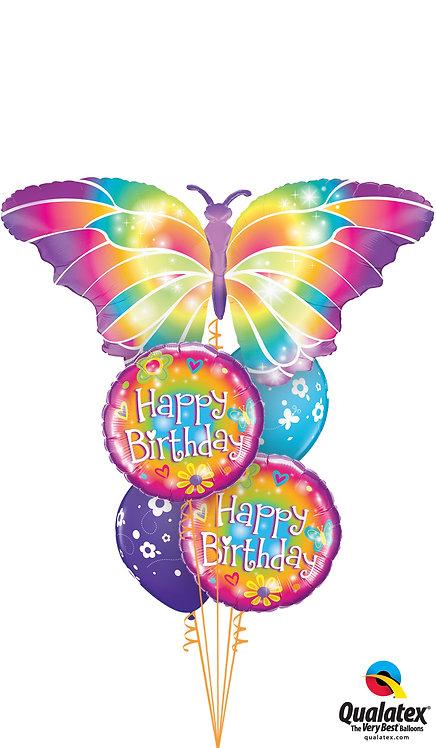 Cheerful Balloon Bouquet - Luminous Butterfly Birthday