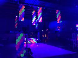 Glow in the Dark Balloon Columns