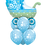 Thumbnail: Awesome Balloon Bouquet - Baby Boy Stroller