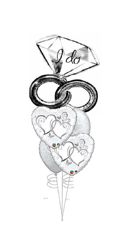 Cheerful Balloon Bouquet - I Do Love You