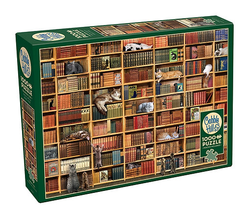 Cat Library 1000pc Cobble Hill Jigsaw Puzzle