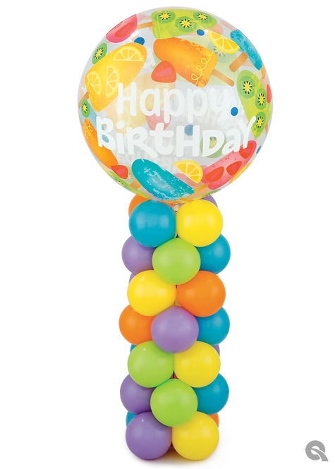 Bubble Birthday Mini Column