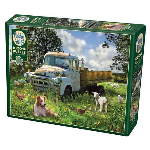 Sheep Field 1000pc Cobble Hill Jigsaw Puzzle