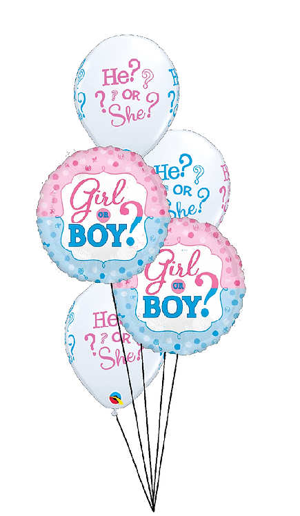 Classic Balloon Bouquet - He? or She? What will it be?
