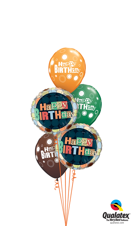 Classic Balloon Bouquet - Birthday Dots