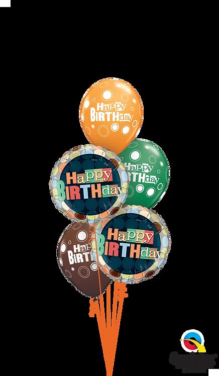 Classic Balloon Bouquet - Birthday Dots