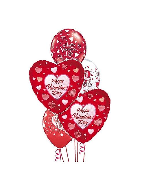 Classic Balloon Bouquet -Valentine
