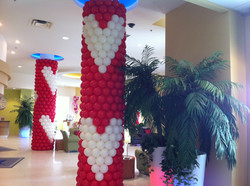 Valentine's Day Pillar wrap balloons