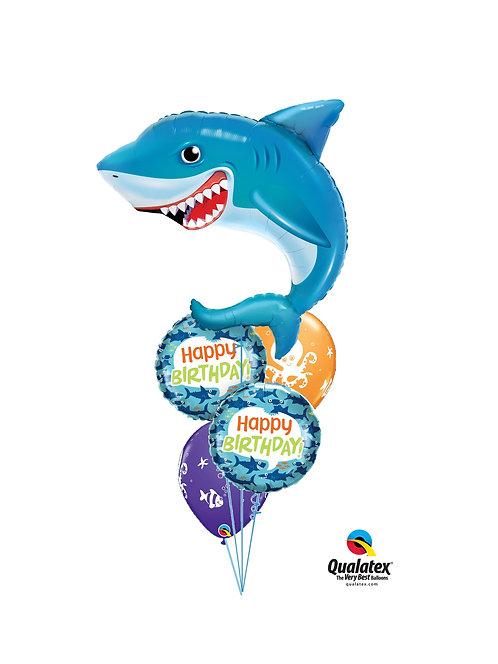 Cheerful Balloon Bouquet - Jawsome Birthday
