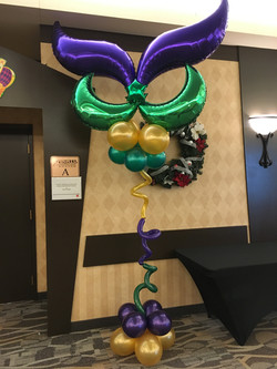 Mardi Gras Mask Sculpture
