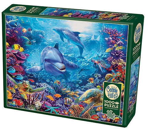 Dolphin's at Play 1000pc Cobble Hill Jigsaw Puzzle
