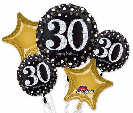 Super Fun Foil Bouquet - Sparkling 30