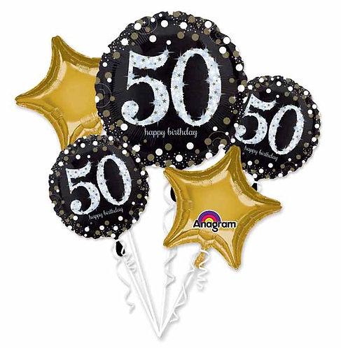 Super Fun Foil Bouquet - Sparkling 50