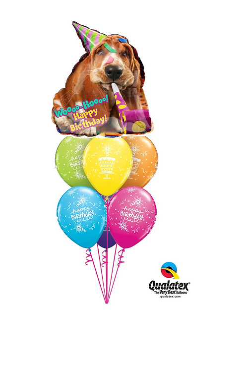 Awesome Balloon Bouquet -Woo Hoo Party Hound