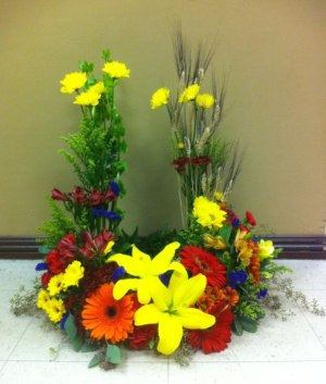 Summer Meadow Urn Wreath