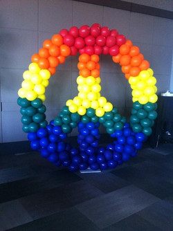 Peace Symbal Balloon Sculpture