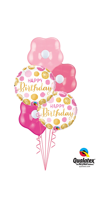 Blossom Balloon Bouquet - Happy Birthday Pink
