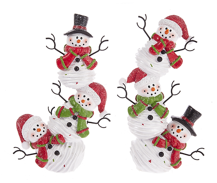 Stacking Snowmen Figurine