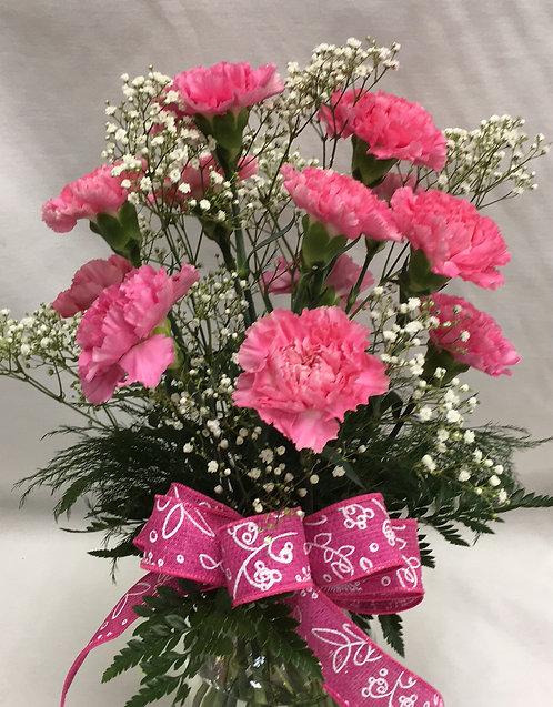 The Dozen Carnations Arrangement