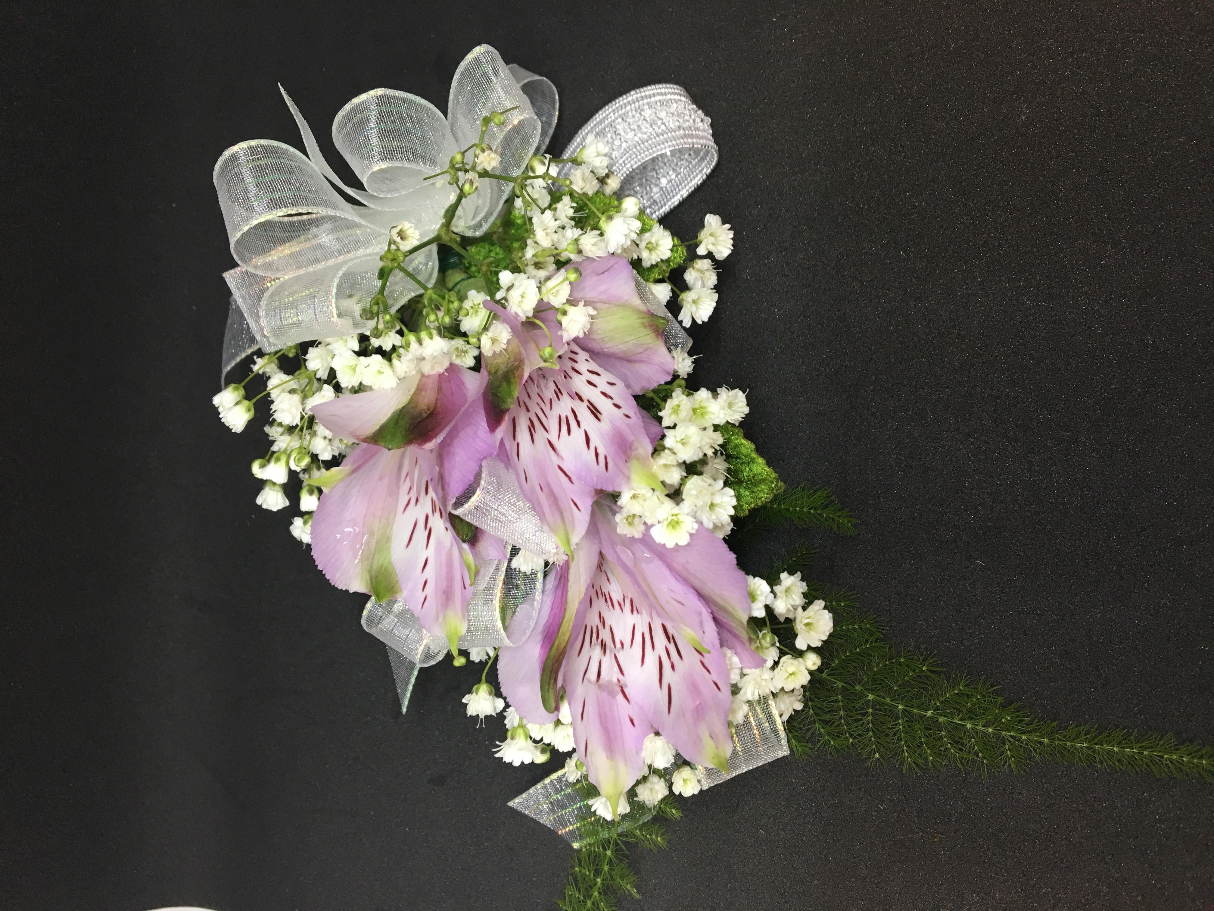 Lavender Alstromeria Corsage