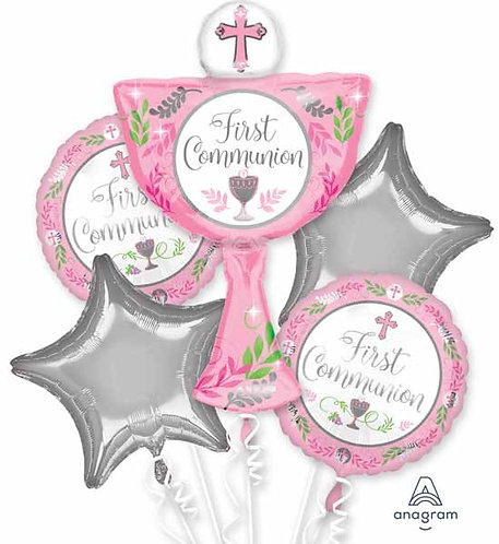 Super Fun Foil Bouquet - First Communion Pink