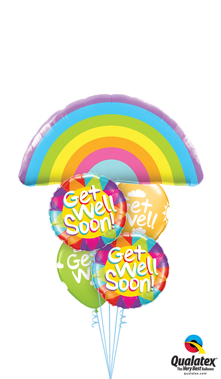 Cheerful Balloon Bouquet - Get Well Rainbows