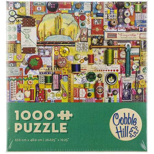 Sewing Notions 1000pc Cobble Hill Jigsaw Puzzle
