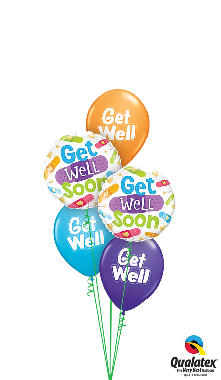 Classic Balloon Bouquet - Get Well Soon Bandages
