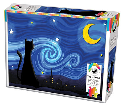 Mrowwy Night 500pc Cobble Hill Jigsaw Puzzle