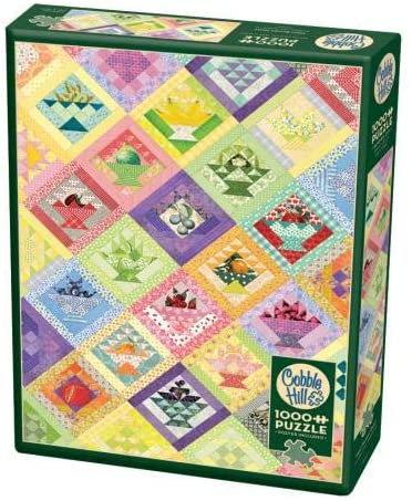 Fruit Basket Quilt 1000pc Cobble Hill Jigsaw Puzzle