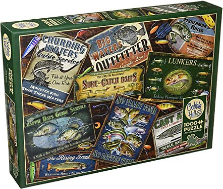 Fish Signs 1000pc Cobble Hill Jigsaw Puzzle