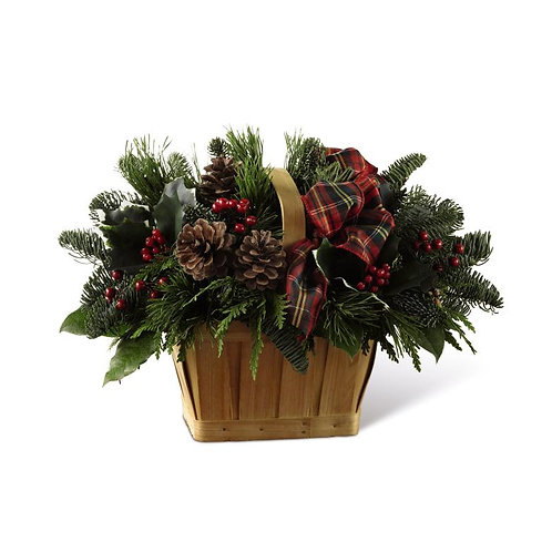 The FTD® Christmas Coziness™ Basket Deluxe
