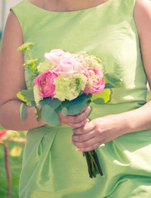 Bride's Maids Bouquet Chartreuse