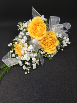 Yellow Spray rose corsage