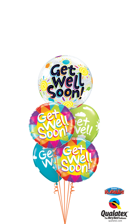 Cheerful Bubble Balloon Bouquet - Get Well Soon