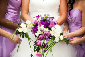 Teardrop Bouquet with Bride's Maids