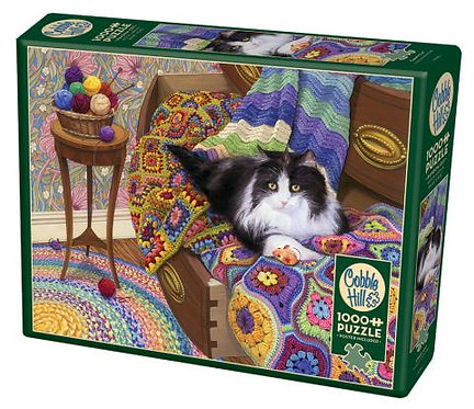 Comfy Cat 1000pc Cobble Hill Jigsaw Puzzle