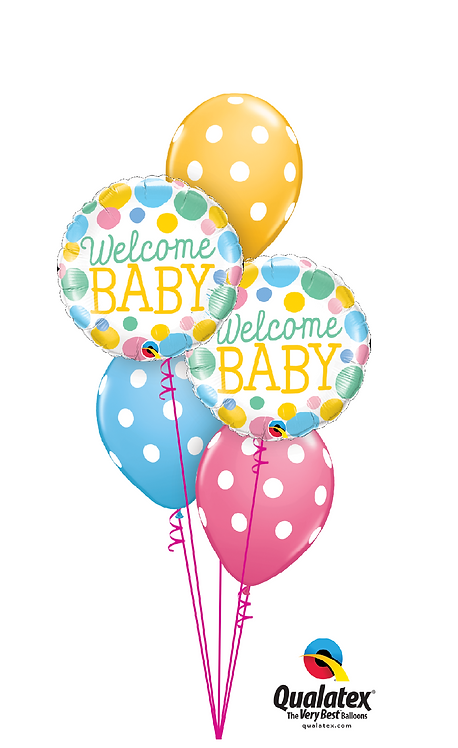 Classic Balloon Bouquet - Welcome Baby