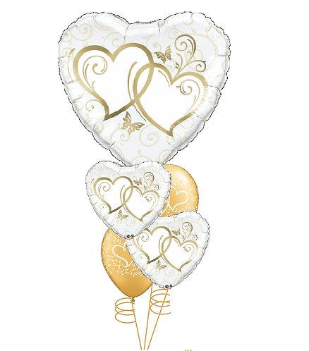 Cheerful Balloon Bouquet - Golden Love