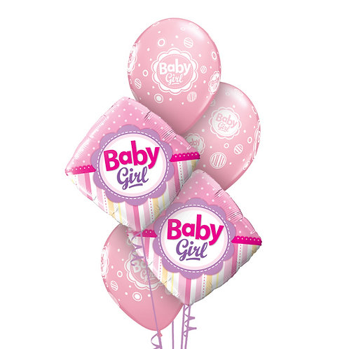 Classic Balloon Bouquet - Baby Girl