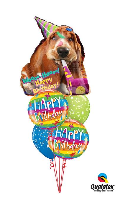 Cheerful Balloon Bouquet -Woo-Hoo Birthday