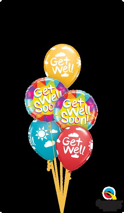 Classic Balloon Bouquet - Get Well