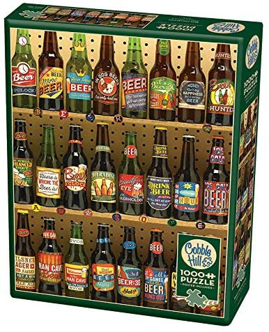 Beer Collection 1000pc Cobble Hill Jigsaw Puzzle