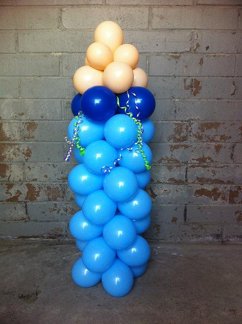 Baby Bottle Mini Sculpture - Blue